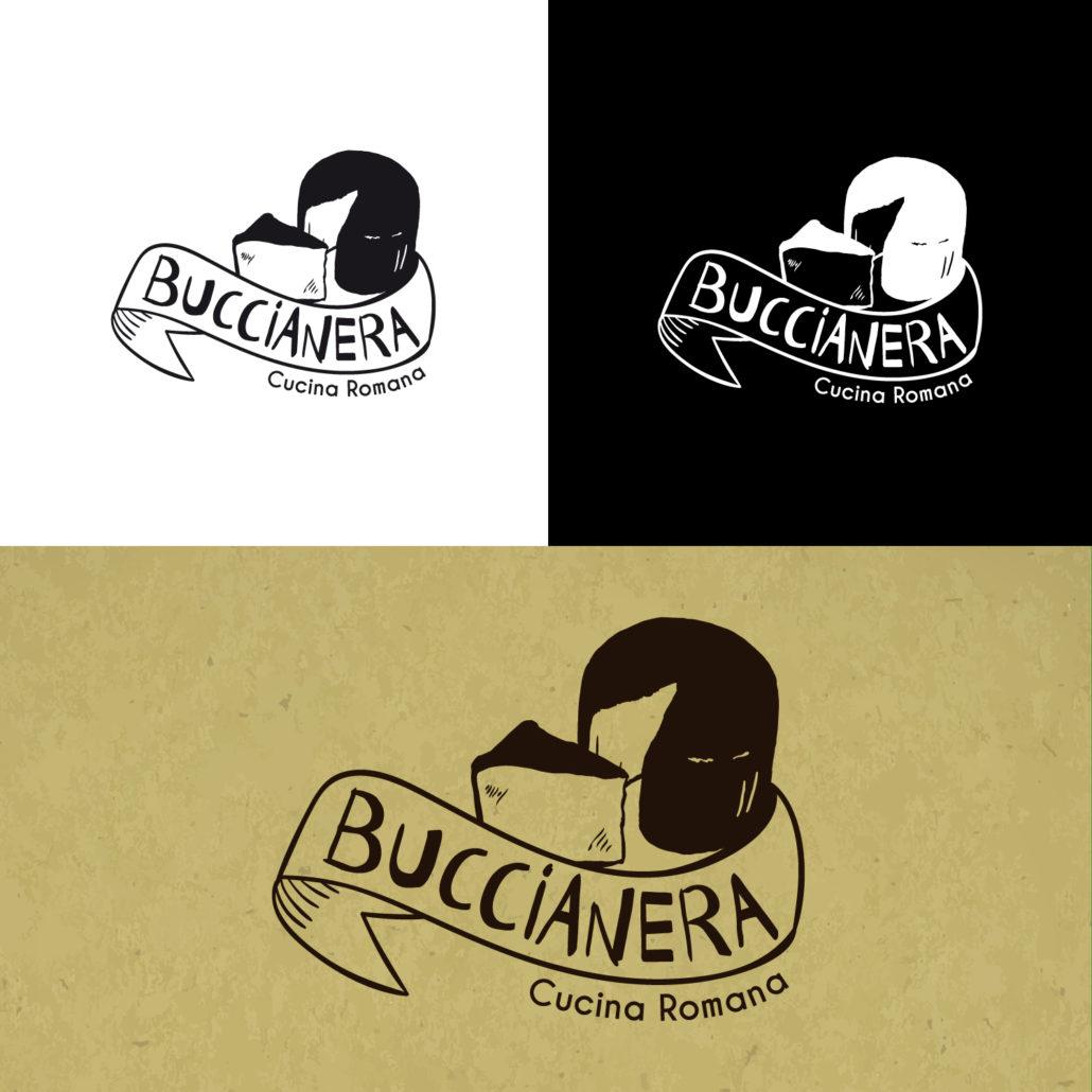 Ideazione e sviluppo del logo per il Ristorante Buccianera – Roma (RM)