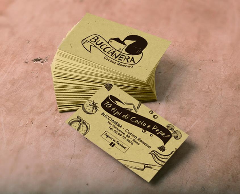 Creazione biglietto da visita a per il Ristorante Buccianera - Roma (RM)