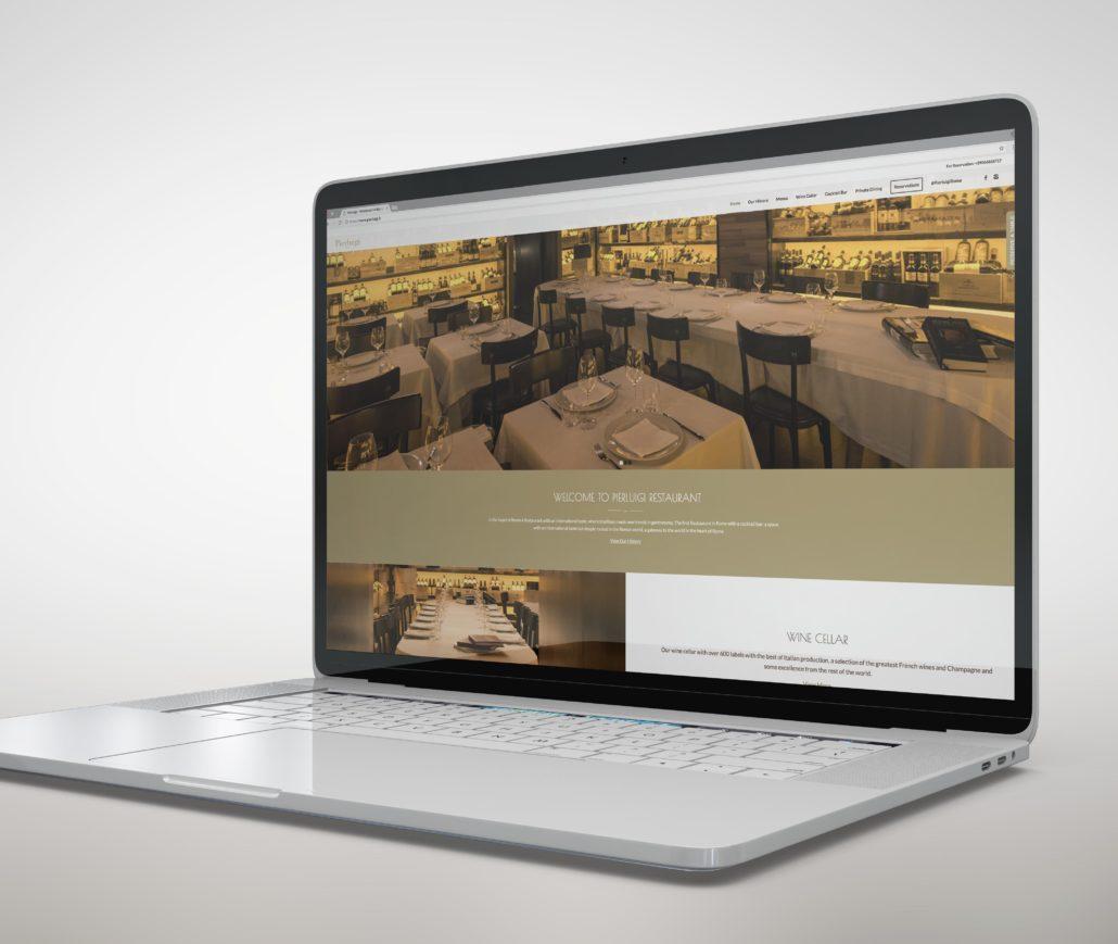 Creazione del sito web per il Ristorante Pierluigi - Roma