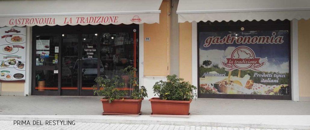 Matteis Gastronomia - Allestimento esterno delle vetrine - Progetto Formia