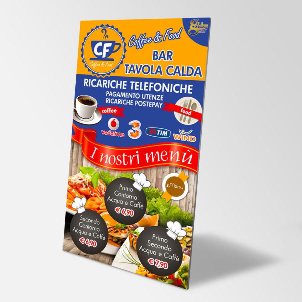CF COFFEE & FOOD - Pannello Forex - Uso Esterno