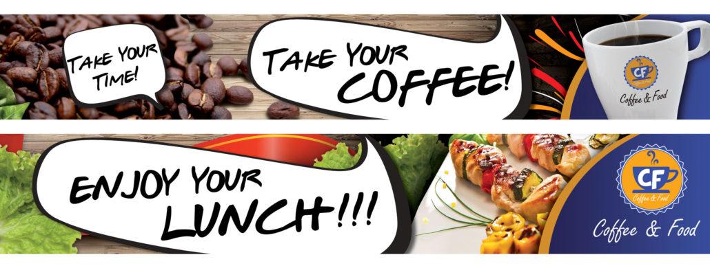 CF COFFEE & FOOD - Banner Uso Interno e Forex uso esterno