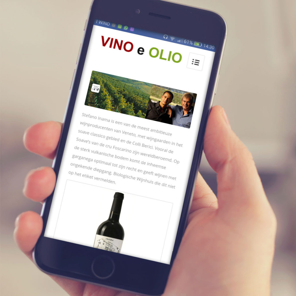 Vino e Olio - Sitoweb