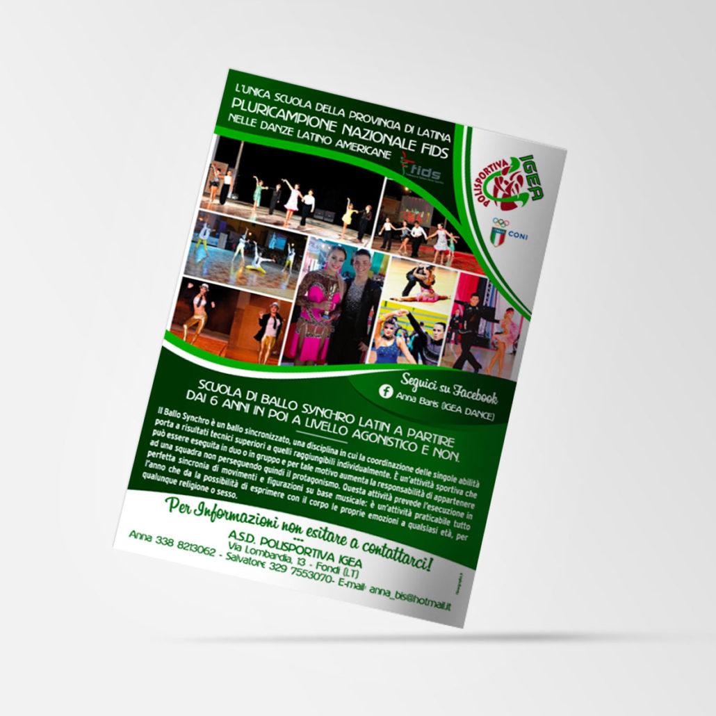 Palestra Igea - Volantino Pubblicitario