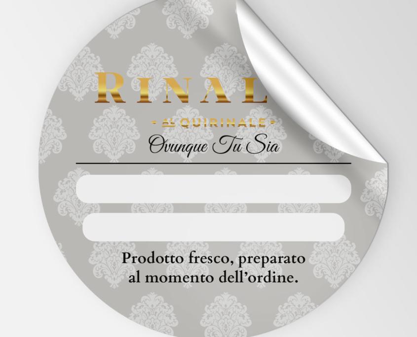 Rinaldi al Quirinale Etichette per il Delivery