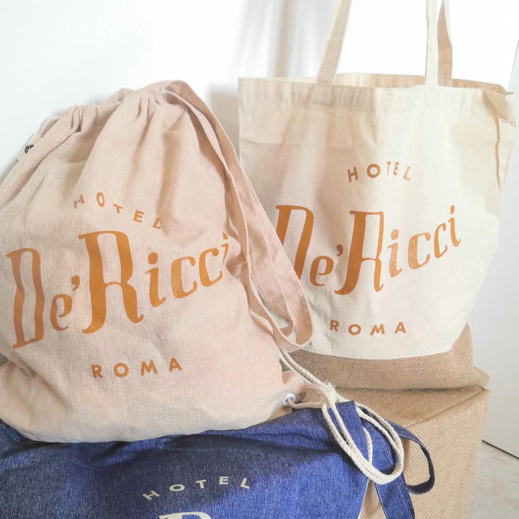 Hotel De Ricci - Shopper Tessuto Personalizzate