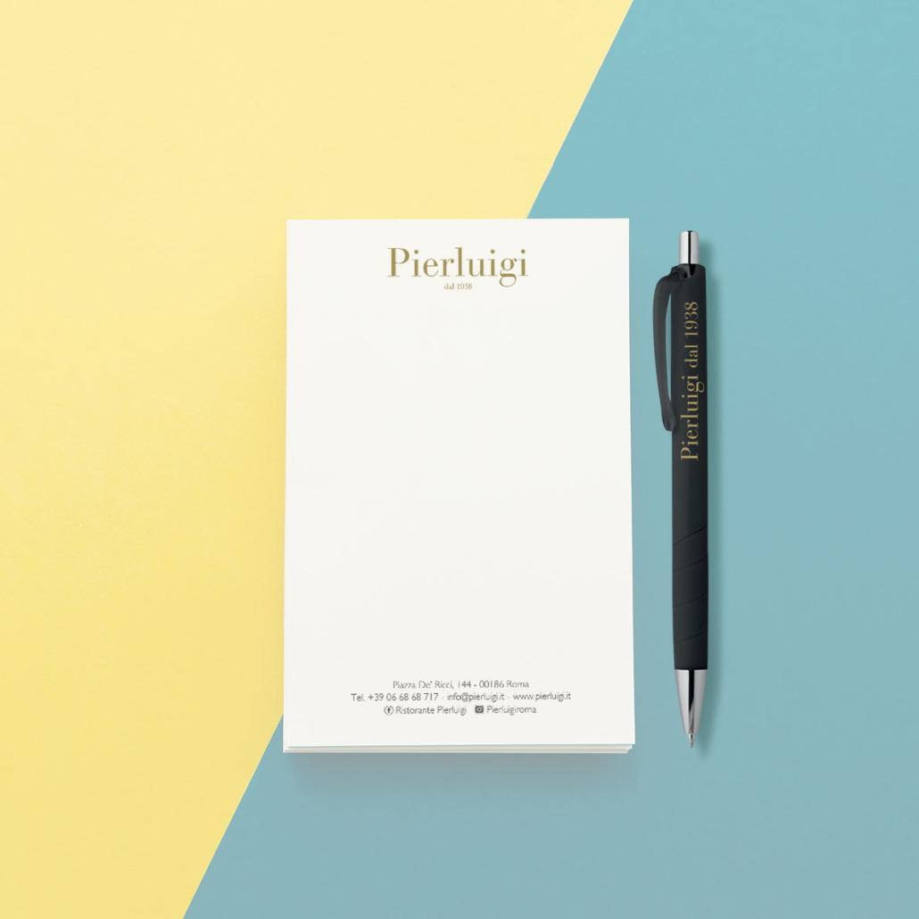Pierluigi Ristorante - Block-Notes_Hovergraphic