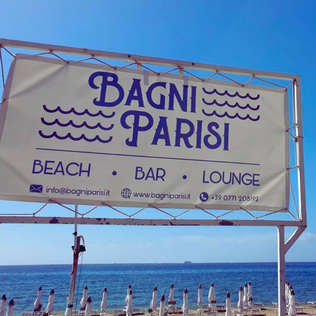 Bagni Parisi Banner Esterno